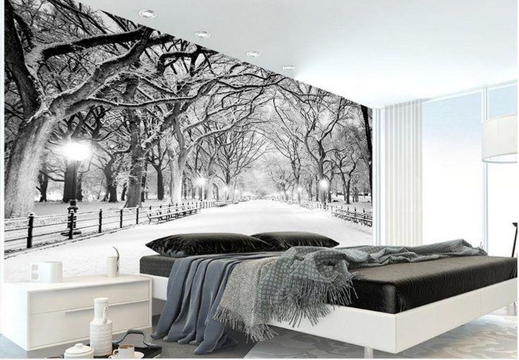 3d room wallpaper Winter snow forest landscape backdrop 3d wallpaper for room 3d nature wallpapers #Affiliate