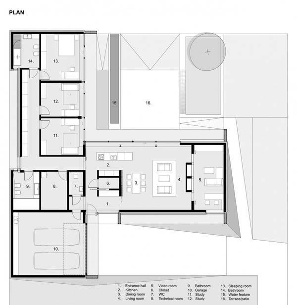Architects Przemek Kaczkowski L shape plan