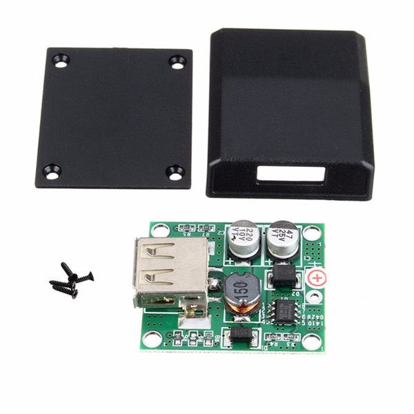 Junction Box Solar Panel Charger Special Kit DIY 5V 2A Voltage Regulator. DIY 5V 2A Voltage Regulator Junction Box Solar Panel Charger Special Kit   	Feature:  	   	Solar charger regulator dedicated USB DIY junction box  	Energy saving, high conversion efficiency  	Suitable for electronic production, solar charger regulator  	   	Specifications: 	   	Product name: Plastic Case  	Material: Plastic  	Color: Black  	Size: Approx. 4x3.3x1cm/1.57'x1.29'x0.39'  	Voltage: 5V   	Output current: 2A…
