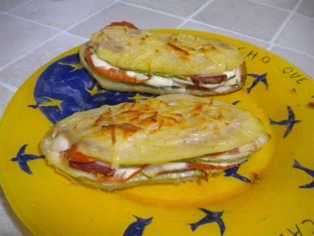 Mini lasañas de calabacín y patata. ¡Simplemente exquisitas!