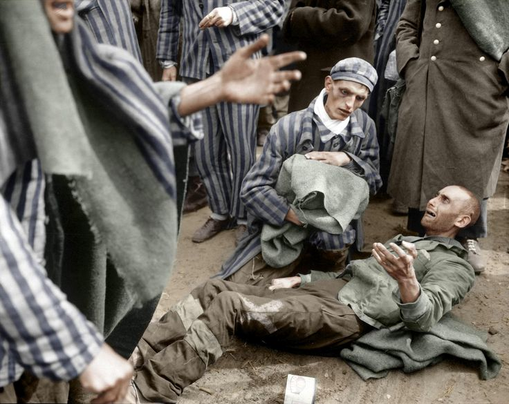 Rescued inmates at nazi concentration camp Wobbelin, 1945 near Ludwigslust. [2000 × 1591] - Imgur