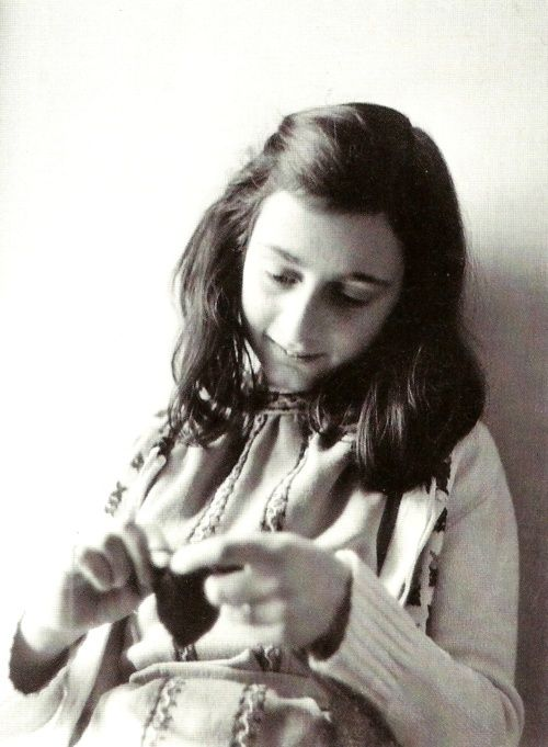 """Irma Sonnenberg Menkel: """"One of the children in my barracks toward the end of the war was Anne Frank. I don't recall much about her, but I do remember her as a quiet child. When I heard later that she was 15, I was surprised. She seemed younger to me. Pen and paper were hard to find, but I have a memory of her writing a bit(…) When Anne Frank got sick with typhus, I remember telling her she could stay in the barracks – she didn't have to go to roll call.""""( In Newsweek Magazine, July 21…"""