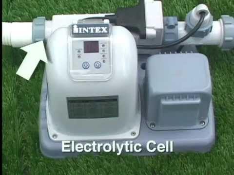 sistema de sal para piscinas INTEX - YouTube