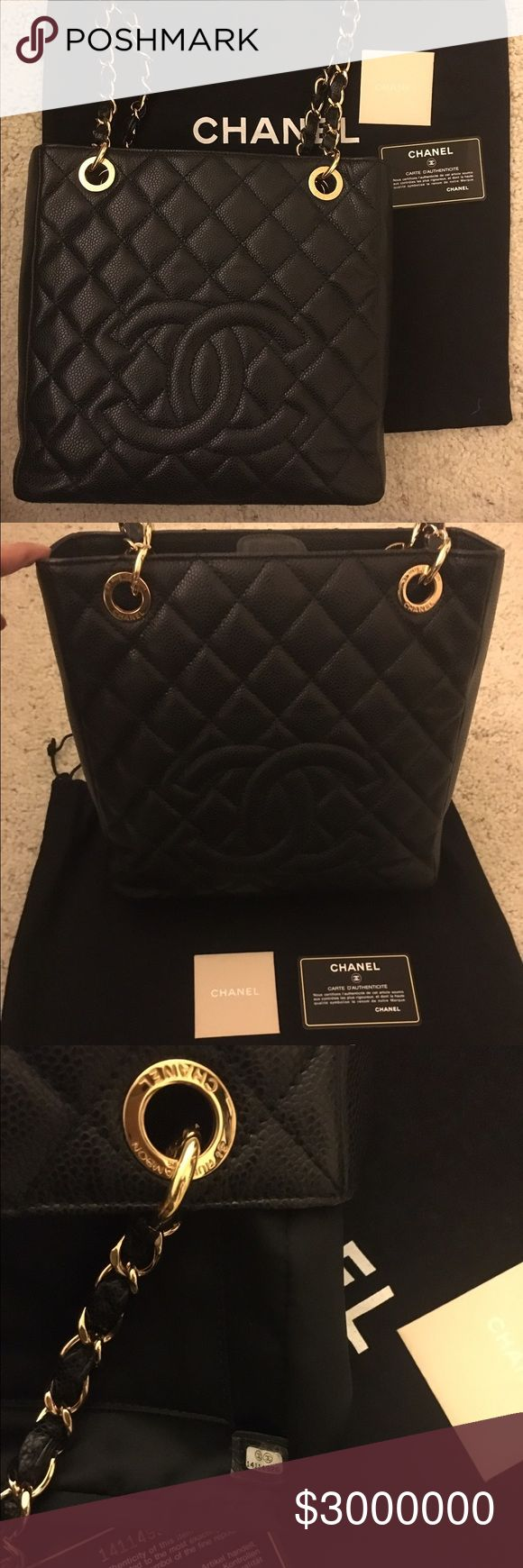 "CHANEL PST IN CAVIAR LEATHER Almost ""BRAND NEW"". No signs of wear. All gold hardware are shiny like new. I bought this in Frankfurt, Germany. I will only trade her for Hermes bags like evelyne or other bags that's in the same condition. I'm more than willing to meet in person either in norcal or socal California. CHANEL Bags Shoulder Bags"