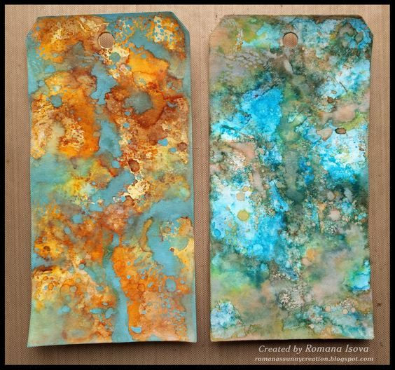 26.2.2017 - Distress oxide and Distress ink combo tags - more details on my blog. http://romanassunnycreation.blogspot.ch