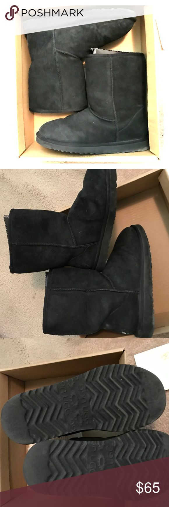 Black Ugg Boots The Original Ugg Boots • black • short • worn only a few times UGG Shoes Winter & Rain Boots