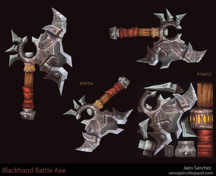 World of Warcraft Weapons Fan Art - Polycount Forum