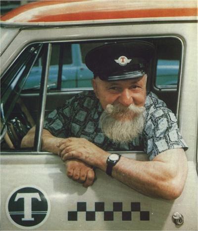 USSR taxi-driver