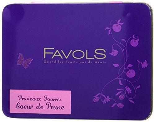FAVOLS Pruneaux Fourres Cœur de Prune 6 Boîtes en Métal 400 g: Favols élabore de délicieuses confiseries avec les meilleures prunes d'Ente…