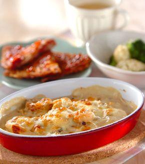 里芋とキノコのグラタン」の献立・レシピ - 【E・レシピ】料理のプロが ... 里芋とキノコのグラタンの献立