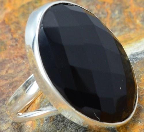925 SILVER BLACK ONYX RING