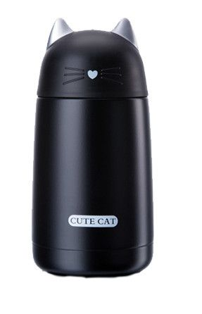 Cute Cat Thermos Cup Pets Kids Thermo Mug Child 330ML Water Bottle Stainless Steel Vacuum Cup For Kids
