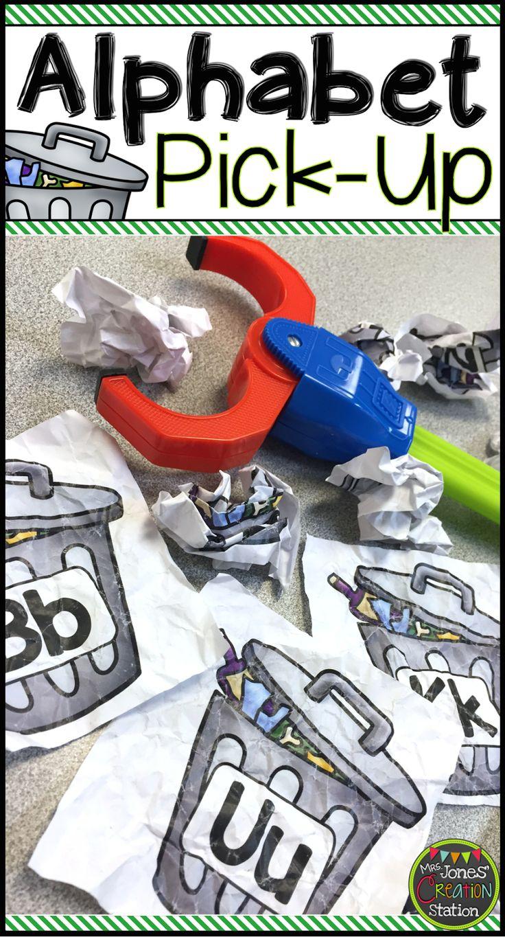 What a fun alphabet activity for preschool and kindergarten age kids!