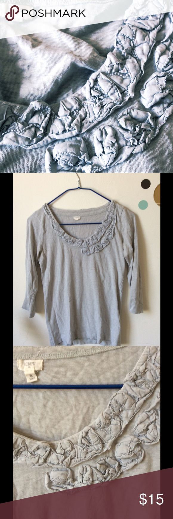 Grey Blouse.  JCrew Grey blouse ¾ sleeve.  JCrew J. Crew Tops Blouses