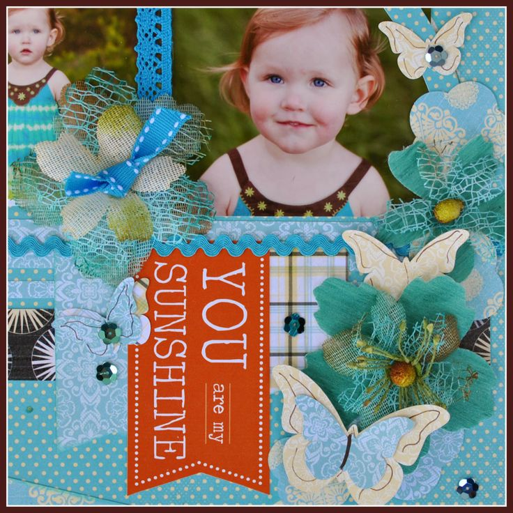 Fathers Day layout from the Quick Quotes Design Team!  It features Calypso paper from Quick Quotes along with the Petaloo Burlap flowers, Textured flowers, and Petaloo berries!
