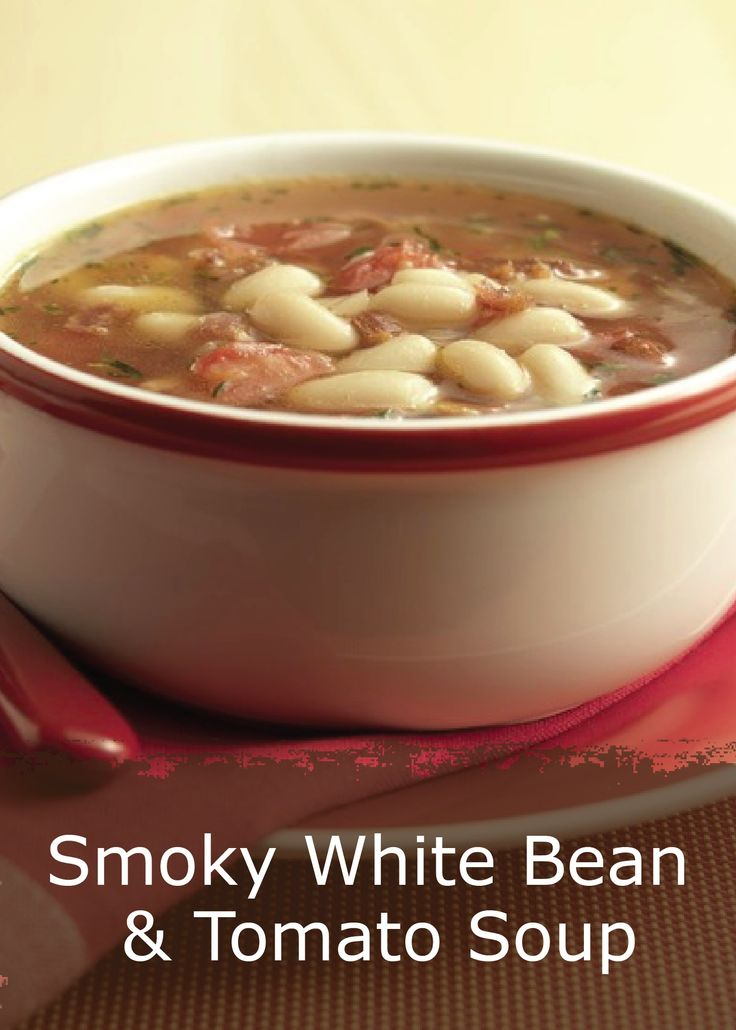 Check out Bush's® Smoky White Bean and Tomato Soup. It's so easy to ...