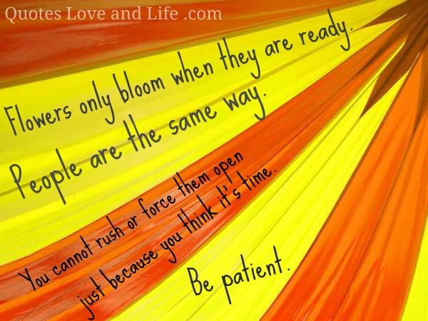 patience is one of the greatest virtue...