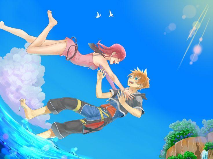 Sora and Kairi - Kingdom Hearts