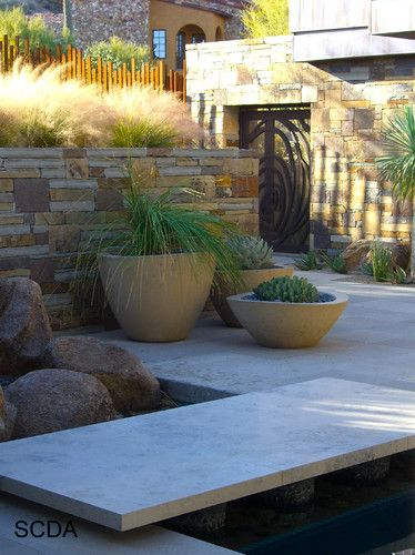 36 best block and paver design ideas images on pinterest Modern desert landscaping ideas