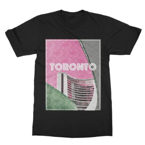 Toronto Graphic Tee feature the city hall building #premotive #toronto #tdot #the6ix #Canada #graphictee