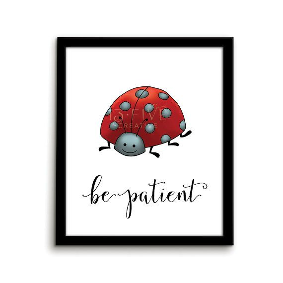 Ladybug Print Animal Nursery Art Print Be by ThirteenFiveCreative