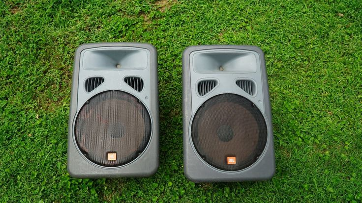 Pair of JBL EON 15P-1 Powered PA Speaker Monitors with cases