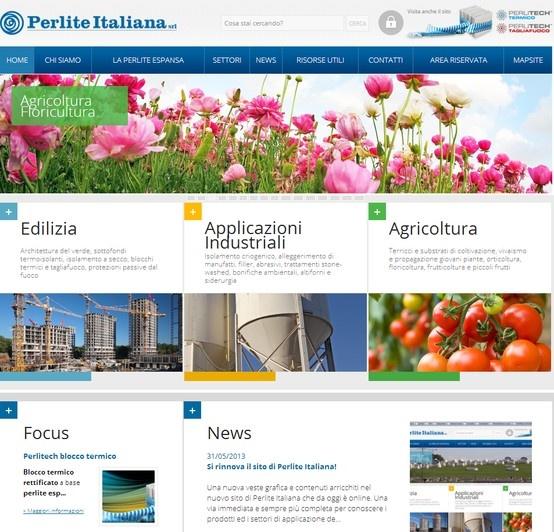 Online il nuovo sito dell'azienda Perlite Italiana, con un restyling grafico e l'applicazione di un V-edit molto personalizzato per andare incontro alle esigenze dell'azienda di gestione dei prodotti e ottimizzazione per i motori di ricerca. #webesign #perlite http://www.perlite.it