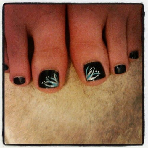 Black Nail Polish Foot: 17 Best Ideas About Black Pedicure On Pinterest
