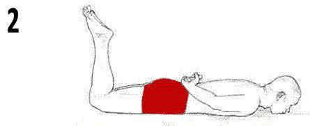 Exercice contre le mal de dos position 2