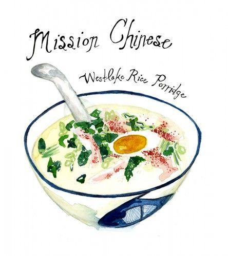 MISSION CHINESE rice porridge