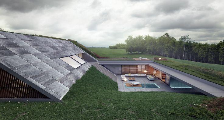 Green Line / Mobius Architekci – nowoczesna STODOŁA   wnętrza & DESIGN   projekty DOMÓW   dom STODOŁA