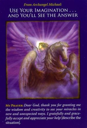 Angel Reading from Archangel Michael: Use Your Imagination