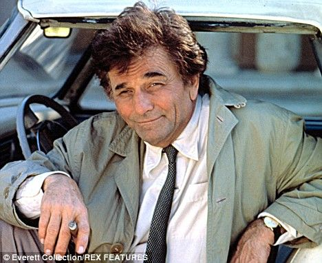 """Lieutenant Columbo (Peter Falk)Columbo was a 90 to 120 minute drama series on NBC about a detective who seems rather dim-witted to his criminal adversaries but is really crazy like a fox!  Trademark line, """"Oh, just one last question.""""  Columbo's first name was never revealed."""