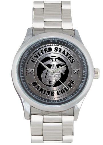 Купить товарКорпус морской пехоты горячая распродажа мода черные мужчины кварцевые нержавеющей стали свободного покроя женщины спорт наручные часы бесплатная доставка L204 в категории  на AliExpress.             Средний Индивидуальные часы Высокое качество.                             Эти часы более чем способ.