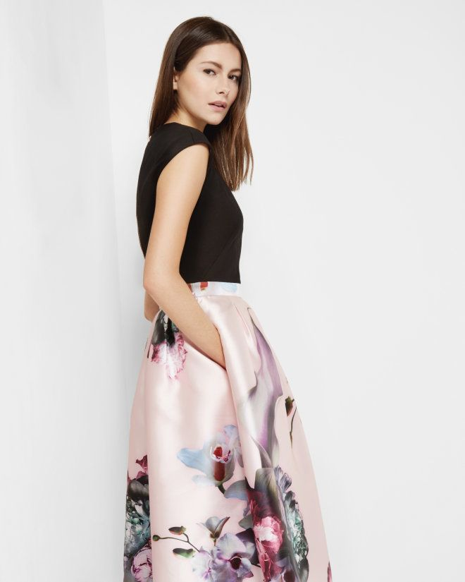 Ethereal Posie midi dress - Nude Pink | Dresses | Ted Baker