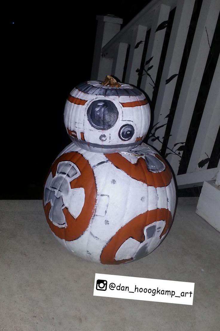 My r2 bb8 heart design is now a t shirt you can buy http tee pub - Star Wars Pumpkin Design My Pumpkin Design For Decided To Paint It Instead Of Carve It Thinking Of Changing His Name To B Oh Zero