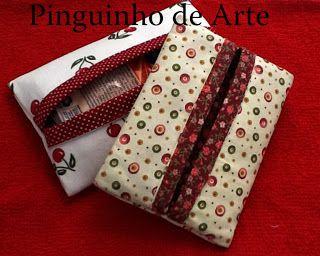 Pinguinho de Arte: PAP Porta Lenços em Tecido T. Rosa. T. Izete. Érika. Luanna.
