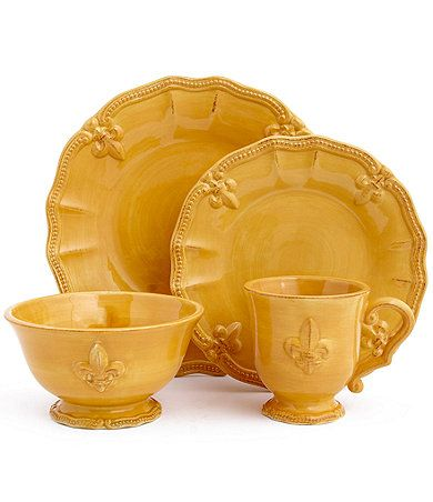 Artimino Fleur-de-Lis Yellow Dinnerware  sc 1 st  Pinterest & 222 best Dishes of all kinds images on Pinterest | Dish sets Casual ...