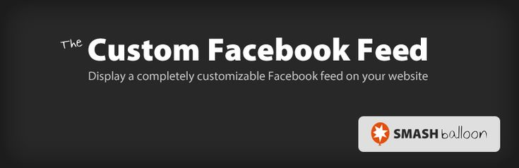display customizable Facebook feed of any public Facebook page your website