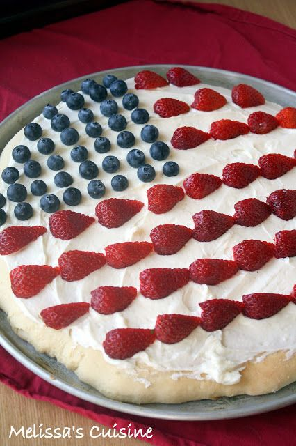Patriotic Fruit Pizza.. Did this for a small group BBQ, just used a packaged sugar cookie mix to save time!