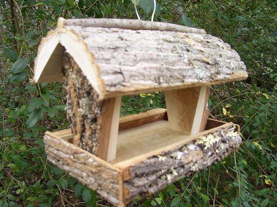 RUSTIC  Bird feeder / squirrel feeder --- handmade in Appalachian mountains of NC on Etsy, $26.00