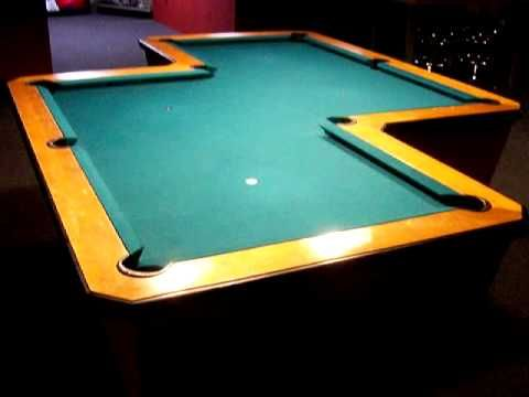 crazy z shaped pool table unique odd pool table come play a game wwwquebilliards