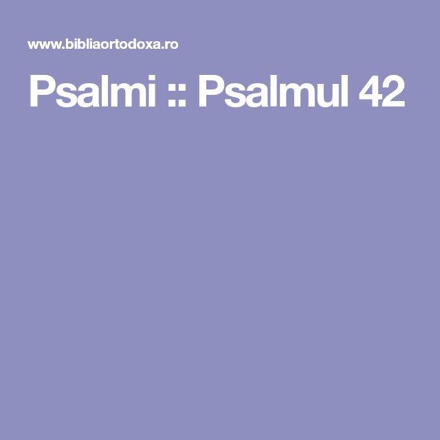 Psalmi :: Psalmul 42