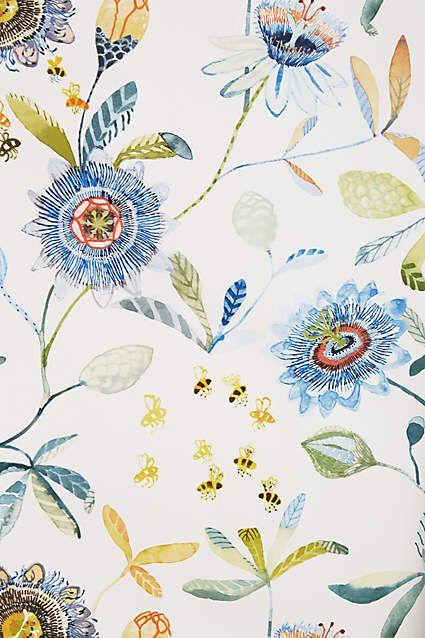 Garden Buzz Wallpaper - anthropologie.com #anthrofave