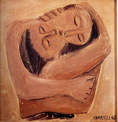 Saffo, 1948, Massimo Campigli. Italian (1895 - 1971)