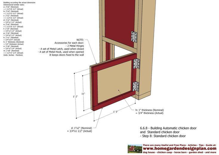home garden plans: Automatic Chicken Coop Door - Chicken Coop Plans Construction