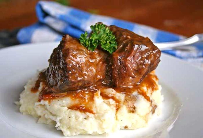Grass Fed Short Ribs Recipe (obviously without the flour and potatoes).