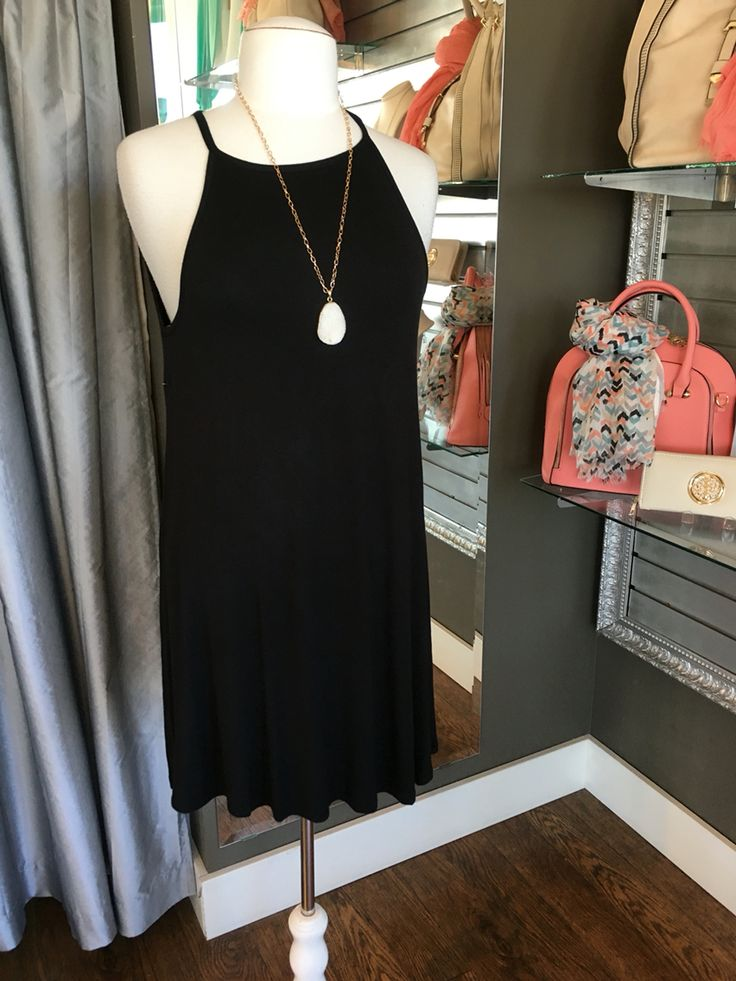Effortless Black Trapeze Dress - This dress is perfect for keeping your summer style easy. Pair this with a jean vest or jacket and you're ready for anything the summer can throw your way! (Effortless Black Trapeze Dress $48CAD) #summer #summerstyle #fashionista