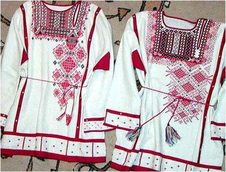 Výšivky ruských slovanských košil