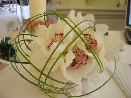 Idées de Décoration de Mariage - Vert & Blanc - Composition Florale